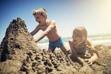 Children enjoy a day playing on a South Carolina beach