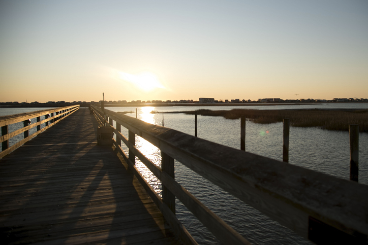 A view of the boardwalk at Murrells Inlet